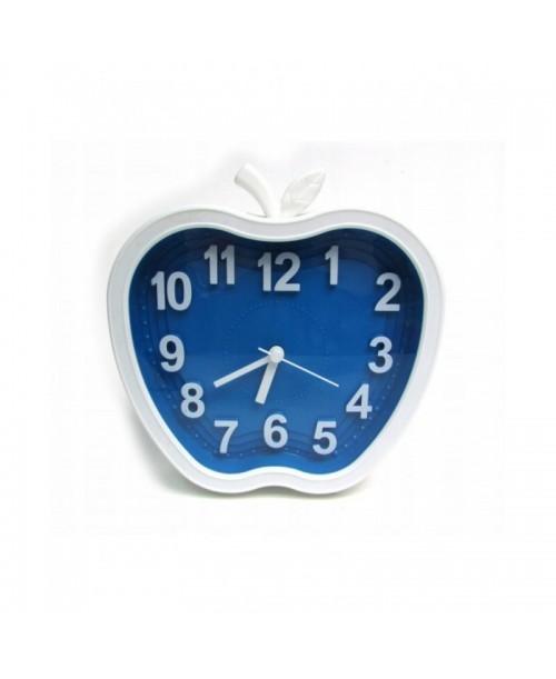 BIAŁY ZEGAREK jabłko APPLE analogowy ALARM