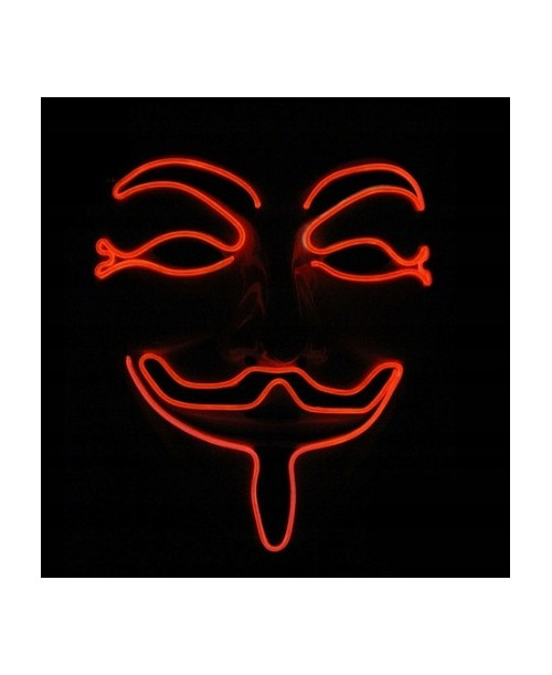 Maska STOP Vendetta Anonymous ACTA guy FAWKE LED