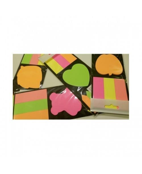 KARTECZKI SAMOPRZYLEPNE kolorowe Różne Wzory