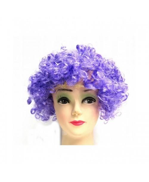 PERUKA fioletowe KRĘCONE włosy AFRO karnawał