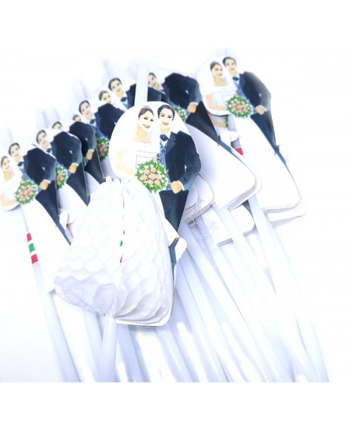SŁOMKI Rurki PARA MŁODA dekoracja wesele 12 szt