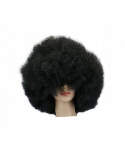 PERUKA AFRO czarne włosy CZUPRYNA karnawał JAMAJKA