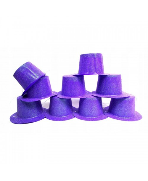 BROKATOWY kapelusik MELONIK imprezowy FIOLET 12szt