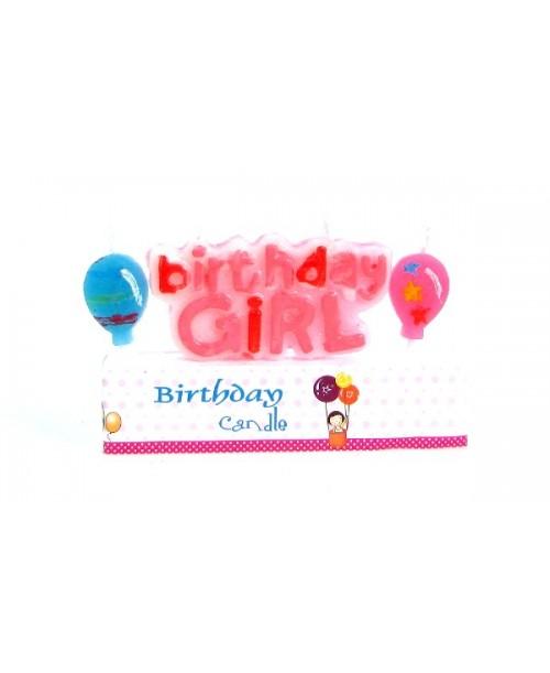 Świeczki na tort różowe Baby Shower balony
