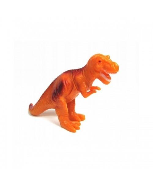 DINOZAUR GUMOWY Miękki POMARAŃCZOWY zabawka 30cm
