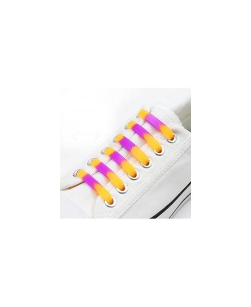 Silikon OMBRE orange SZNURÓWKI bez wiązania 6szt