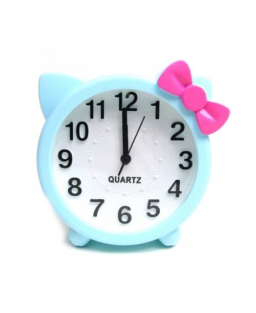 Zegarek z budzikiem dla dziewczynki słodki kociak
