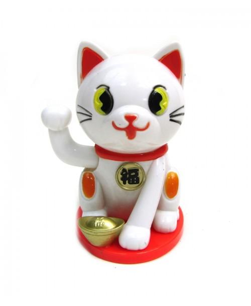 Figurka solarna japońskiego kota szczęścia Maneki-neko