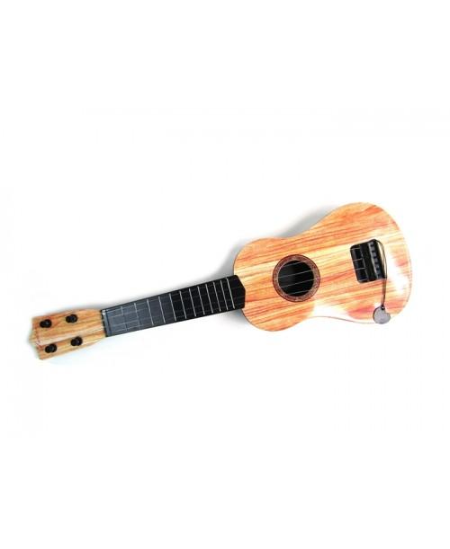 Plastikowa gitara z kostką dla dzieci 54cm