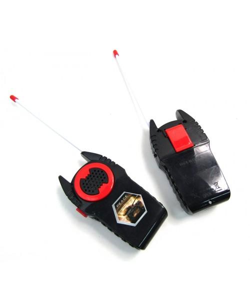 Czarne krótkofalówki walkie-talkie dla dzieci