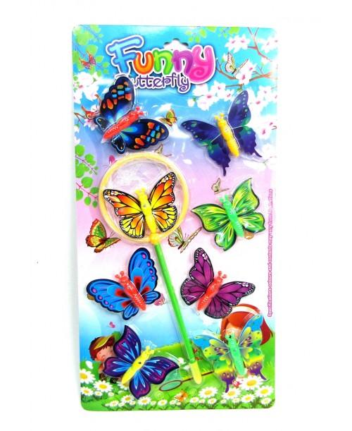 Zabawka zestaw siatka do łapania motyli figurki