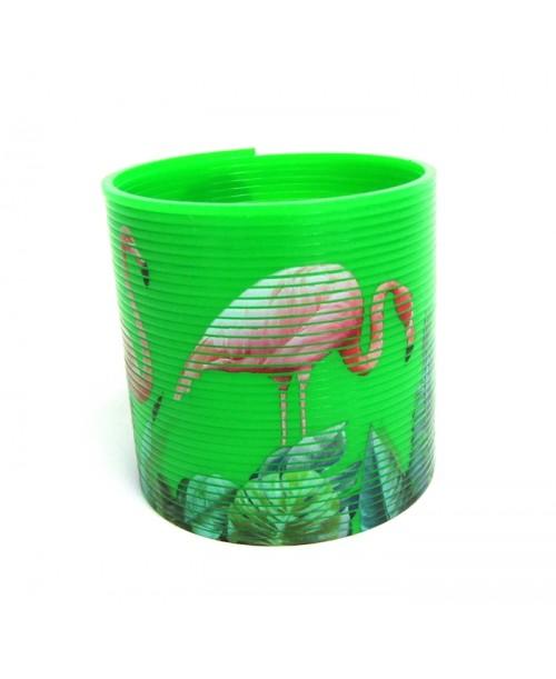 Tropikalna sprężynka z flamingiem 6,5cm