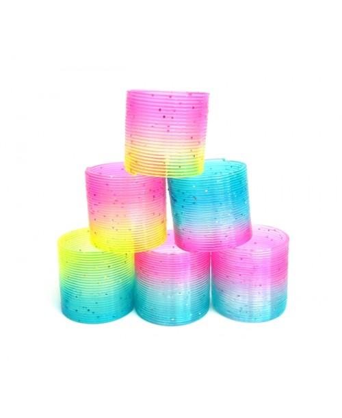 Zestaw 6 kolorowych błyszczących mini sprężynek