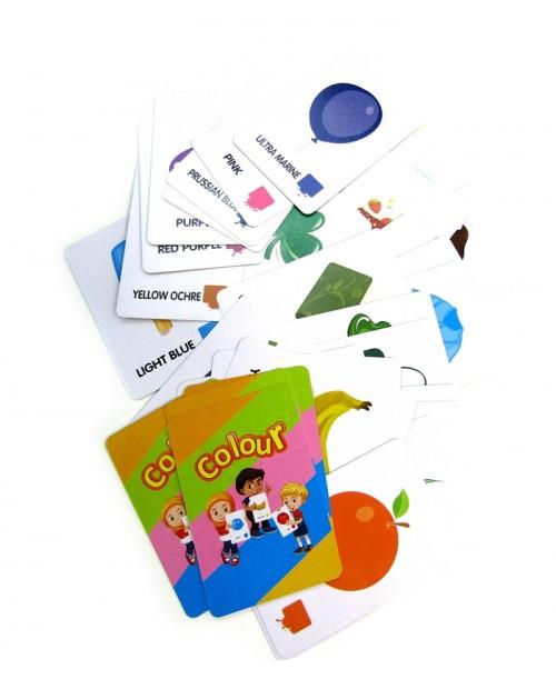 Zestaw 36 kart do nauki kolorów po angielsku