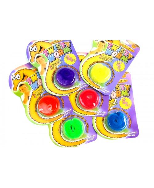 TWISTY WORM magiczny robaczek zabawka KOLORY