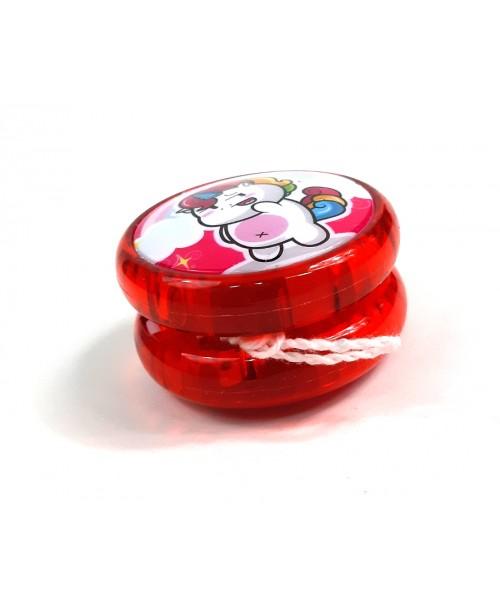 Plastikowe jojo YOYO UNICORN świecące różne KOLORY