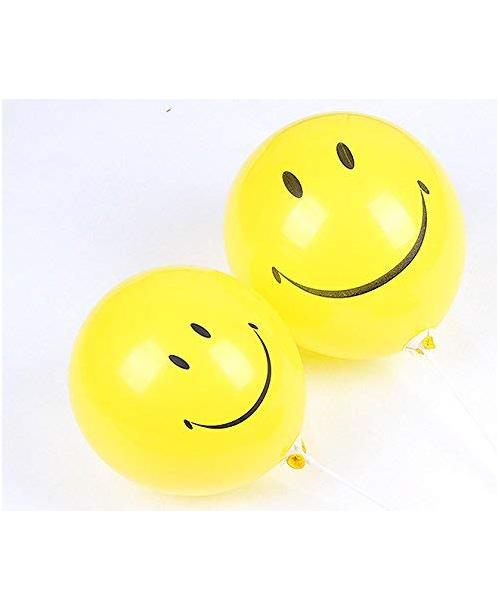 """ZESTAW 8 szt. ŻÓŁTYCH balonów EMOJI 10"""""""
