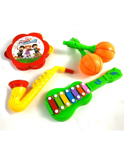 Plastikowy zestaw instrumentów muzycznych 5 szt.