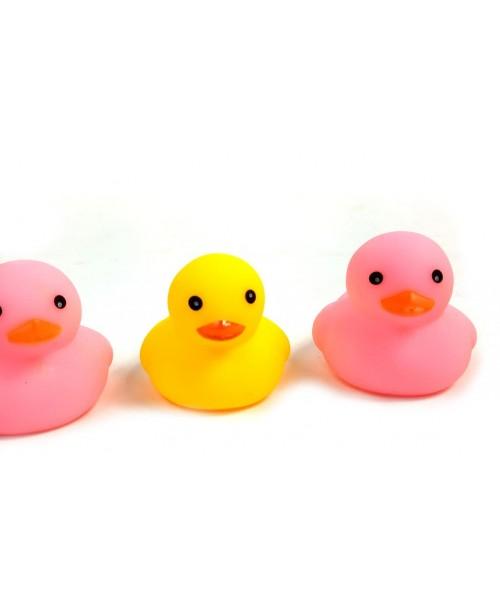 6szt. KOLOROWE KACZUSZKI do kąpieli GUMOWE DUCKS