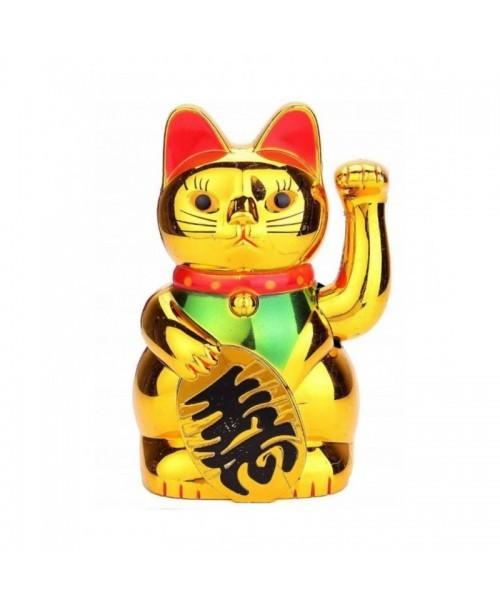 MANEKI-NEKO figurka JAPOŃSKIEGO kota SZCZĘŚCIA 19cm