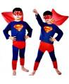 SUPERMAN strój PRZEBRANIE karnawałowe 98-110cm S