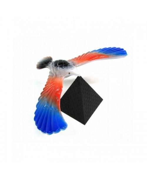 Magiczny balansujący ptak na piramidzie 20 cm