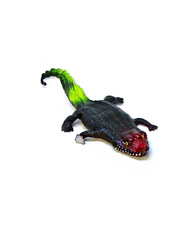 Krokodyl GUMOWY Miękki Rozciągliwy ZABAWKA Kajman