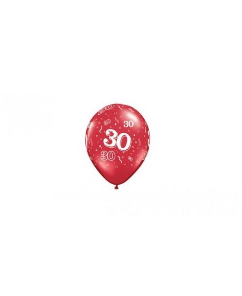 5 szt. BALONY Urodzinowe 30-STKA dekoracja
