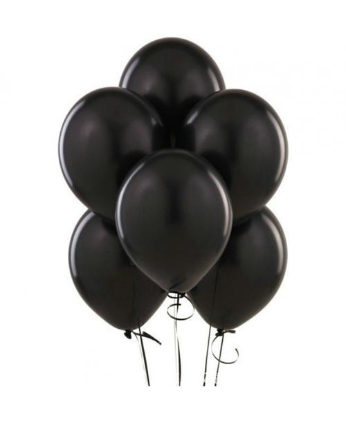 BALONY czarne matowe dekoracyjne kauczukowe 25cm