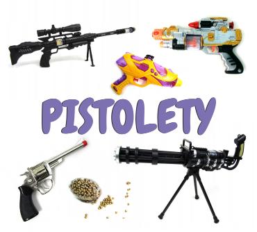 Pistolety na kulki, ma wodę, karabiny z laserem, zestawy policjanta, zestawy żołnierza
